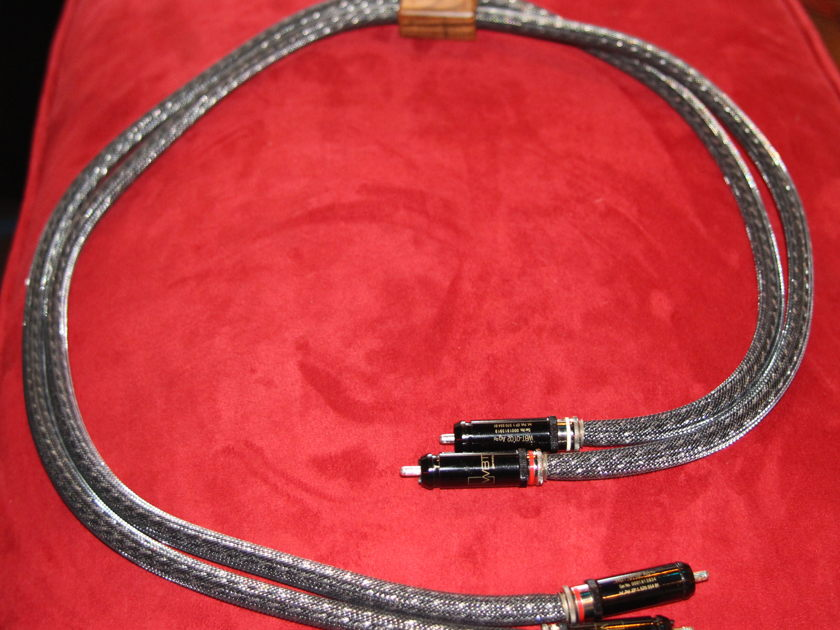 Kimber Kable KS-1036  Black Pearl Silver 1M RCA Cable