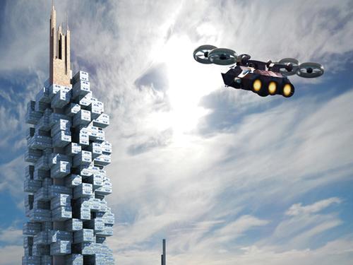 Futuristische architektur wie drohnen das baudesign beeinflussen - Futuristische architektur ...