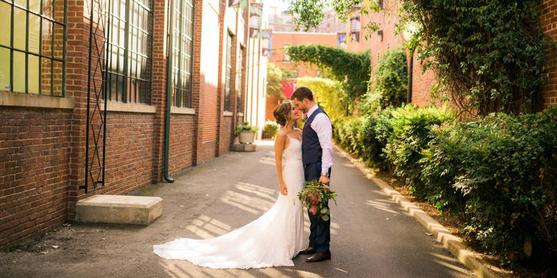 Meant to be in this evergreen and blush wedding