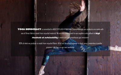 Yoga Democracy commitment to sustainability