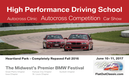 """4th Annual BMW CCA """"Flat Out"""" Classic Festival"""