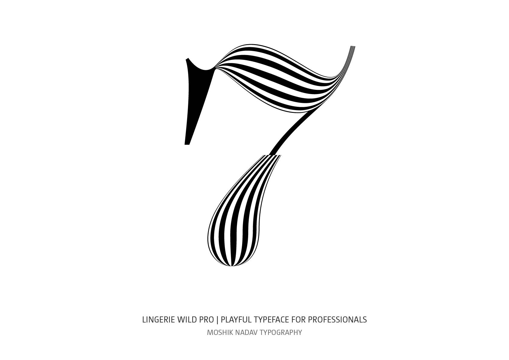 beautiful number 7 for logos and fashion magazine design