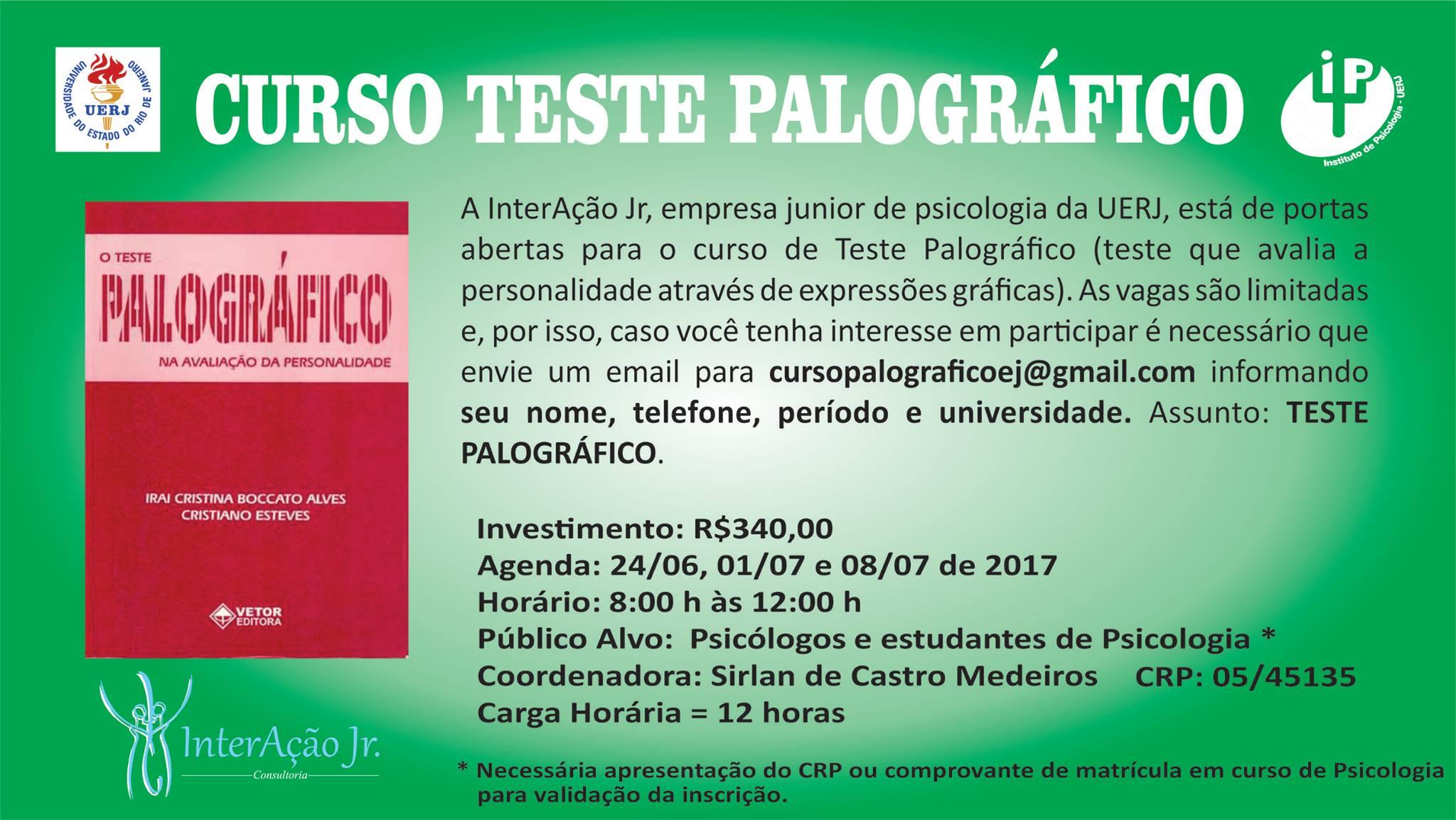 Curso Teste Palográfico- Interação Jr