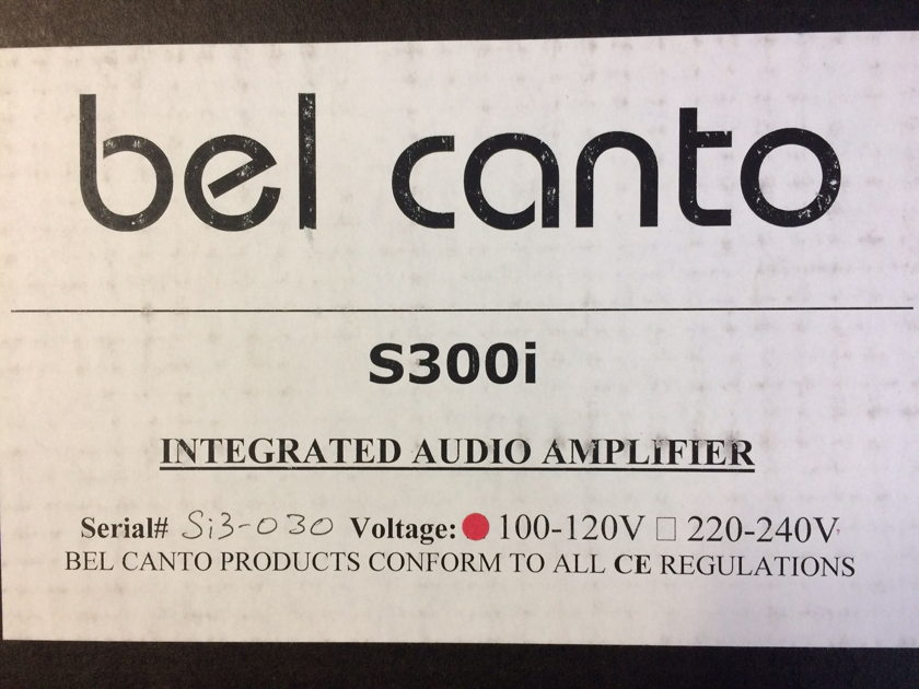 Bel Canto Design S300i Stereo Integrated Amplifier with Remote