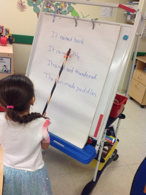 child learning concepts of print at Primrose School of Clear Lake, daycare and child care center located in Clear Lake, 77062
