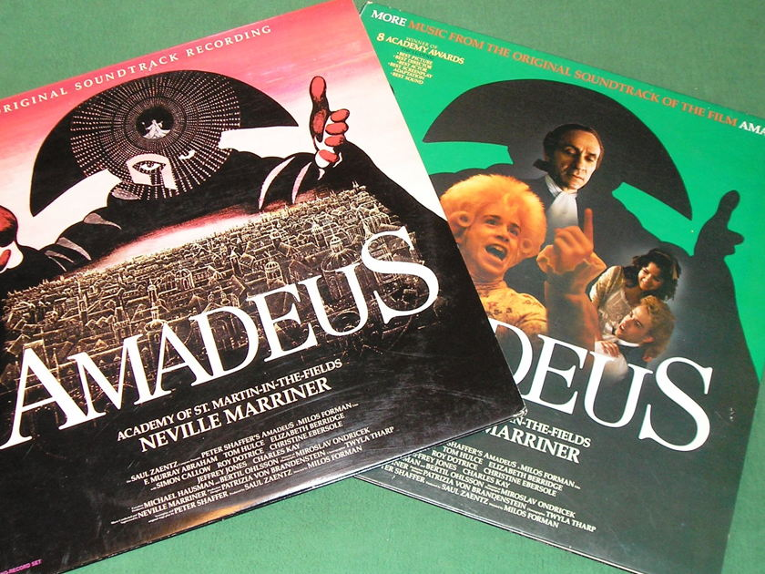 NEVILLE MARRINER - AMADEUS I & II SOUNDTRACK SET - * AMADEUS & MORE AMADEUS SOUNDTRACK 3-LP SET * NM 9/10