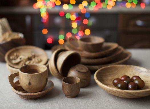 Чашка деревянная - вяз