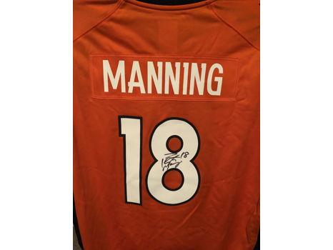Signed Peyton Manning Broncos Jersey