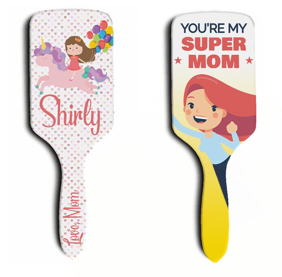 personalised hair brush