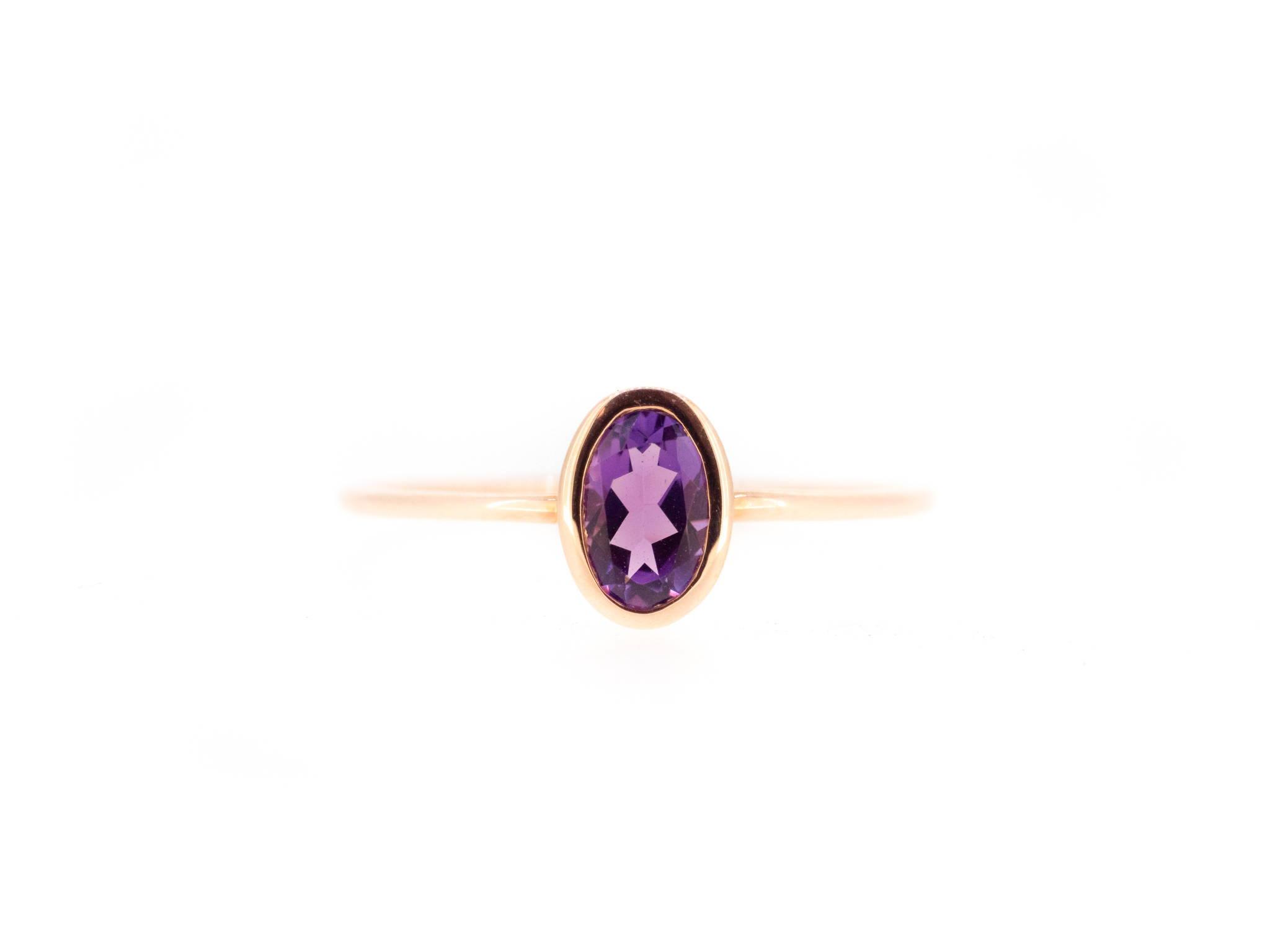 petite amethyst birthstone ring