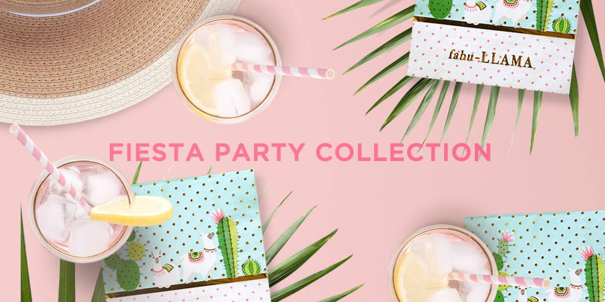 Fiesta Theme Party Supplies, Llama Birthday, Cactus Party Supplies