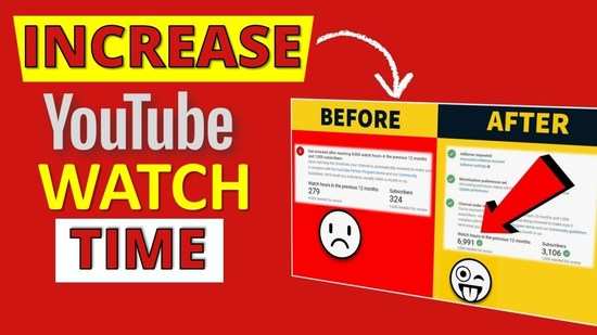 Increase YouTube Watch Time Fast