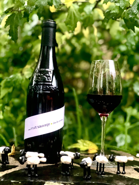 fruit sauvage 2018, clos de caveau, vacqueyras, rhône, france, vin nature, rawwine, organic wine, vin bio, vin sans intrants, bistro brute, vin rouge, vin blanc, rouge, blanc, nature, vin propre, vigneron, vigneron indépendant, domaine bio, biodynamie, vigneron nature, cave vin naturel, cave vin, caviste, vin biodynamique, bistro brute