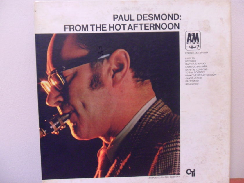 PAUL DESMOND - FROM THE HOT AFTERNOON 1ST PRESSING