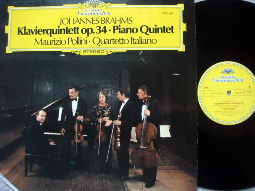 DG / POLLINI-QUARTETTO ITALIANO, - Brahms Piano Quintet Op.34, MINT!
