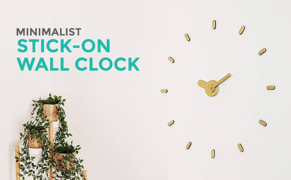 Stick-on Wall Clock