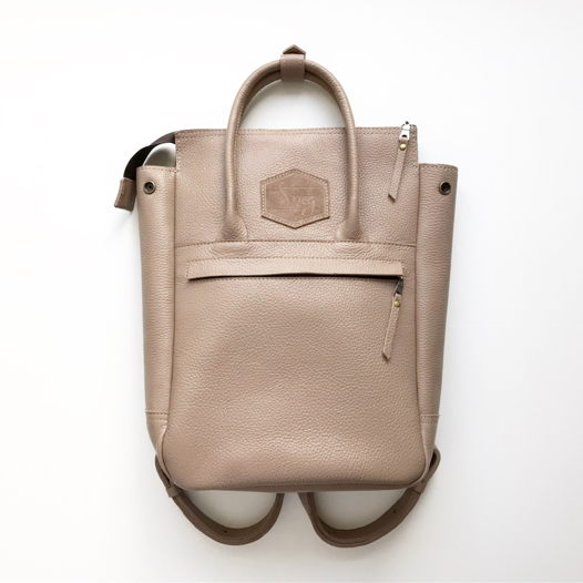 Кожаный рюкзак-сумка Urban Pack Latte
