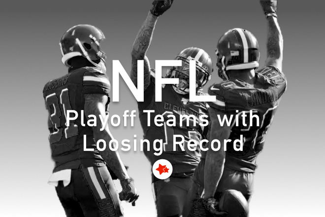 NFL playoff teams with losing records