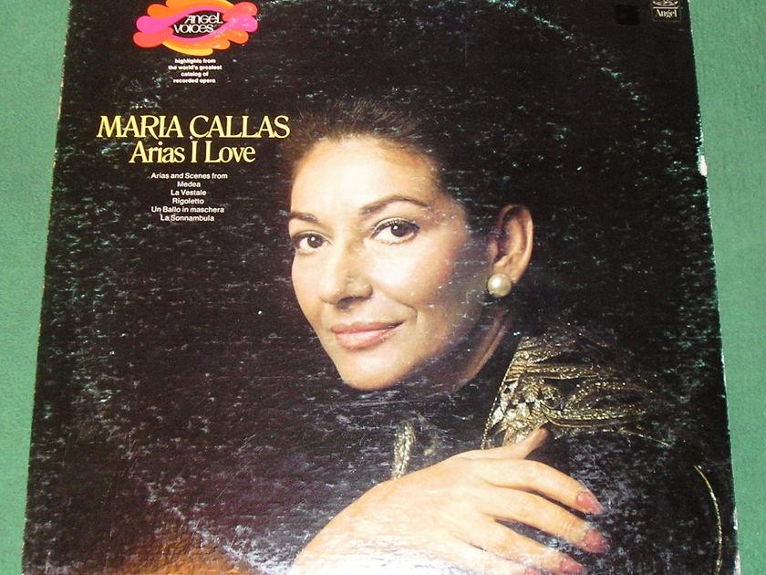 MARIA CALLAS - ARIAS I LOVE - 1973 ANGEL USA PRESS * Winchester, VA Press -  NM 9/10 *