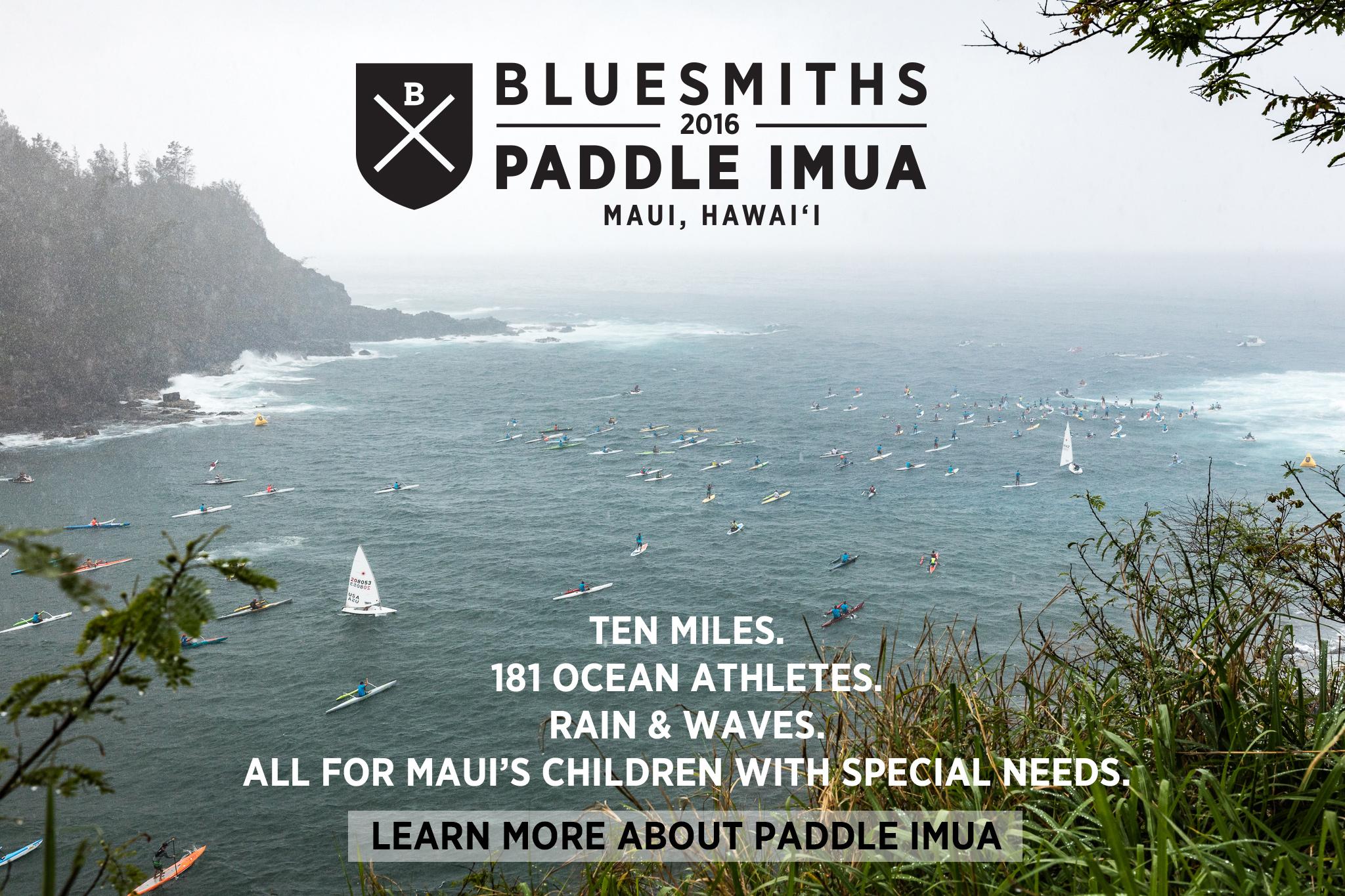 Bluesmiths Paddle Imua Open Ocean Race Maui Hawaii