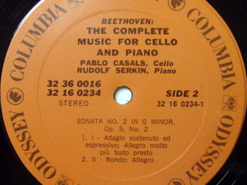 Columbia Odyssey / PABLO CASALS-SERKIN,  - Beethoven Complete Cello Sonatas, NM, 3LP Box Set!