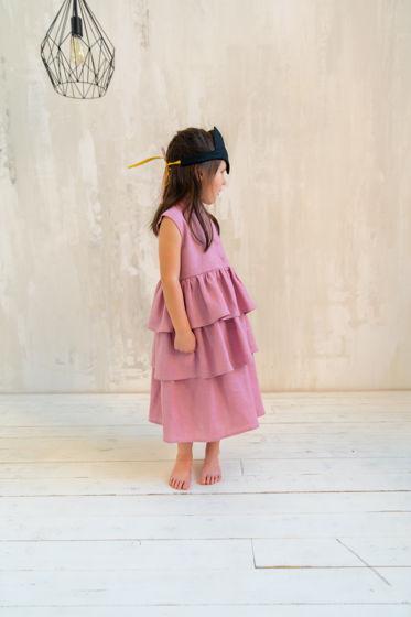 Льняное платье Nicole цвет пыльная роза