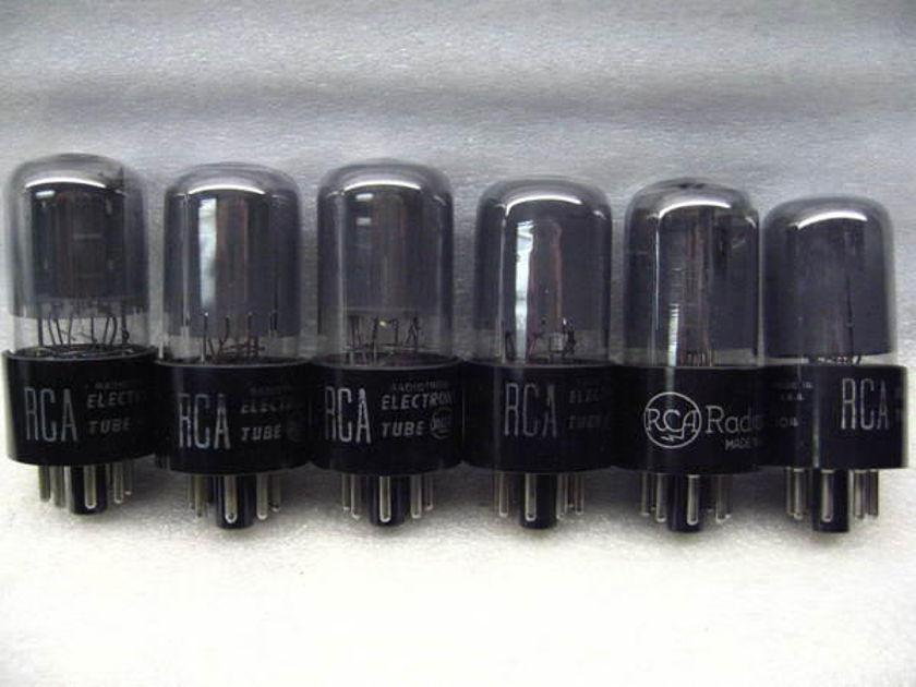 RCA 6sn7GT Smoke Glass platinum matched PAIR free s&h