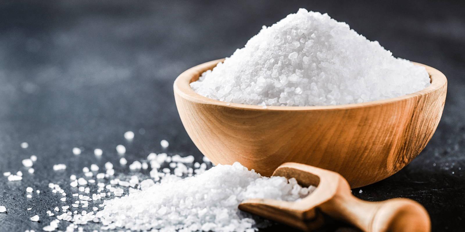 Bowl of coarse salt.