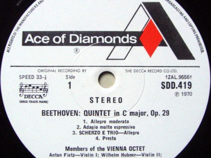 DECCA SDD / VIENNA OCTET, - Beethoven Quintet & Sextet, MINT!