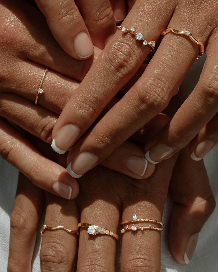 lab-grown diamond rings stack