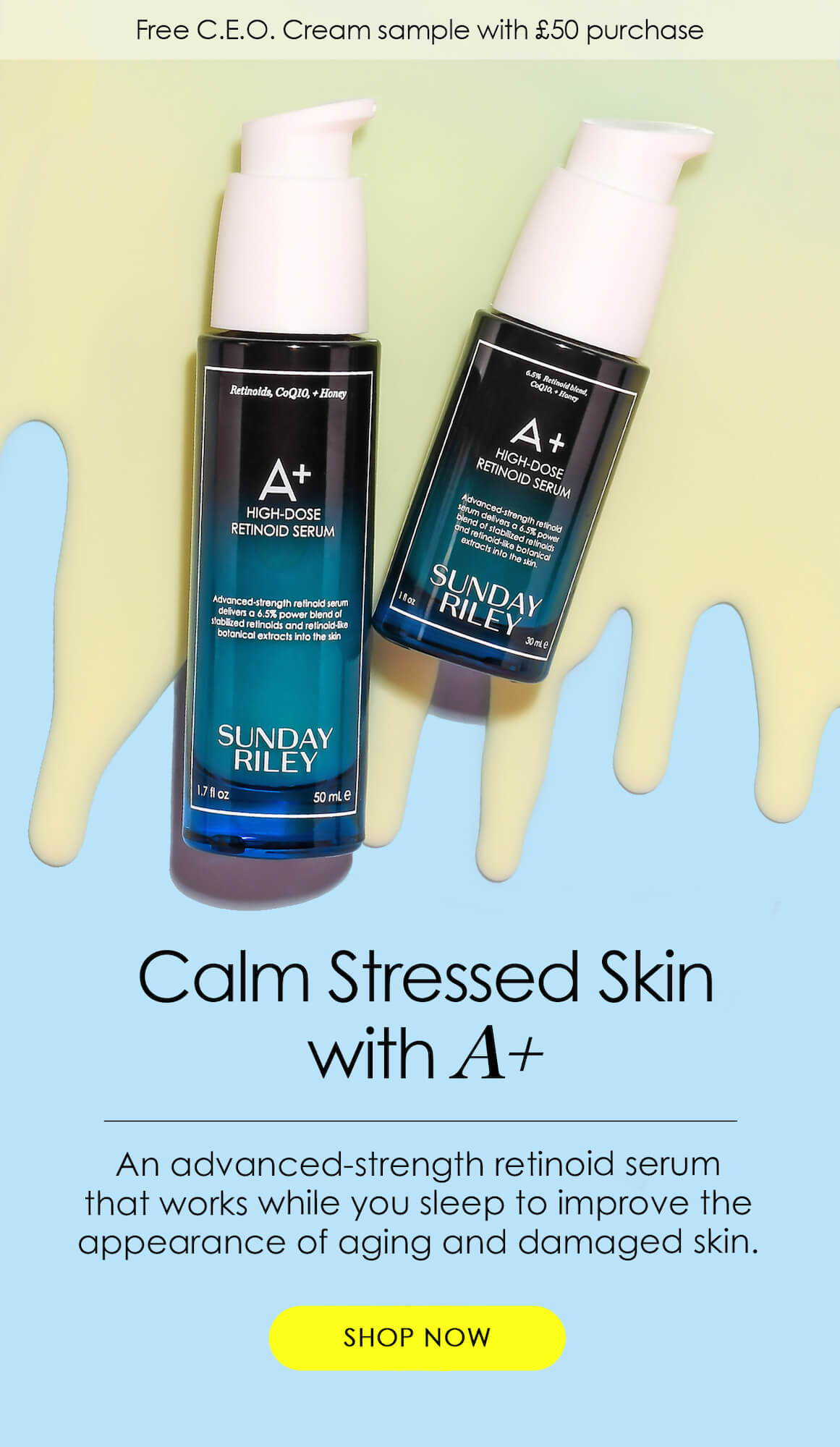 Calm Stressed Skin with A+