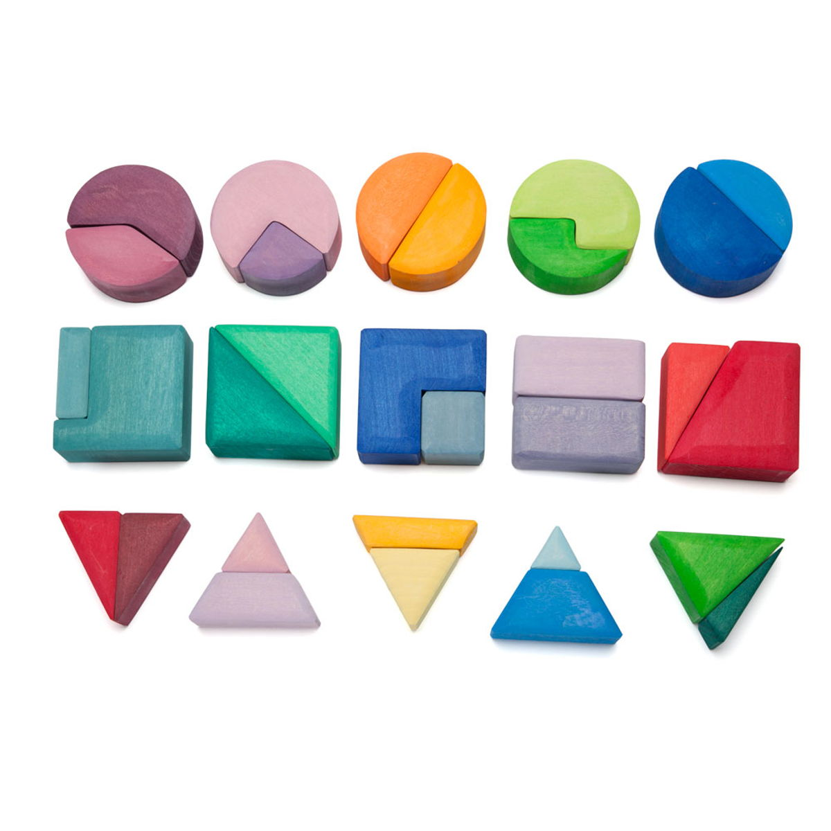 triangles, squares + circles