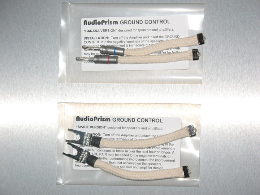 Audio Prism Ground Control - Reference (demo pair - spade or banana)