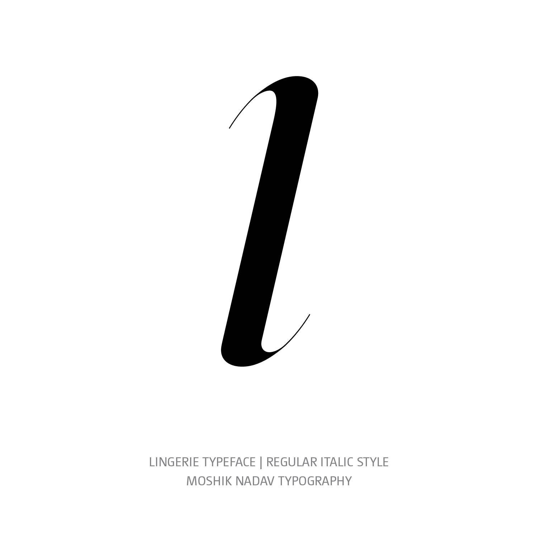 Lingerie Typeface Regular Italic l - Fashion fonts by Moshik Nadav Typography