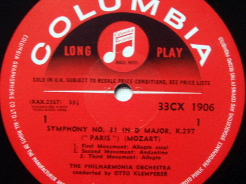 UK COLUMBIA SAX SEMI-CIRCLE MONO / KLEMPERER , - Mozart Symphonies No.31 Paris & 34, MINT!