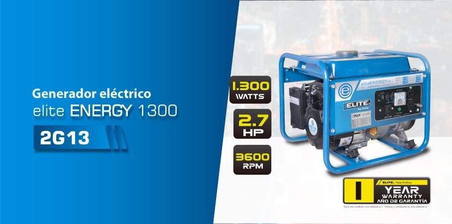 Generador electrico de 1300 watts