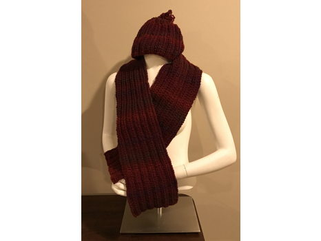 Hand-Knit Cap & Scarf