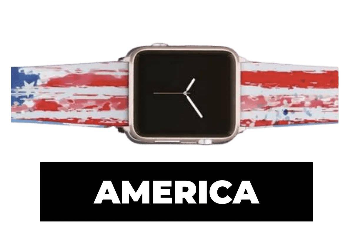 America apple watch band