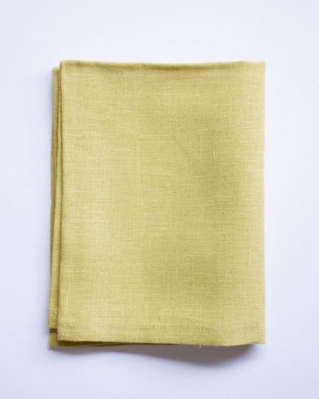 Льняное полотенце - Цинково-жёлтый