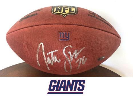 Nate Solder Autographed Football
