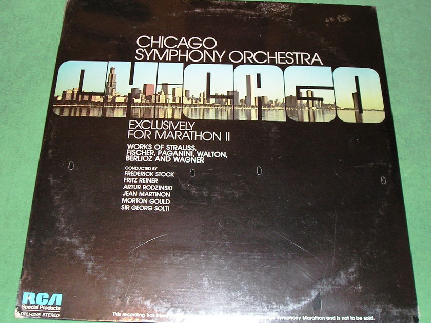 "CHICAGO SYMPHONY  ""EXCLUSIVELY FOR MARATHON II"" - RCA SPECIAL PRODUCTS - NOT FOR SALE **DPLI-0245 - SEALED**"