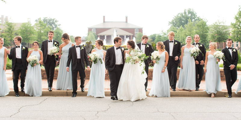 Cool in Blue in Classic Summer Wedding