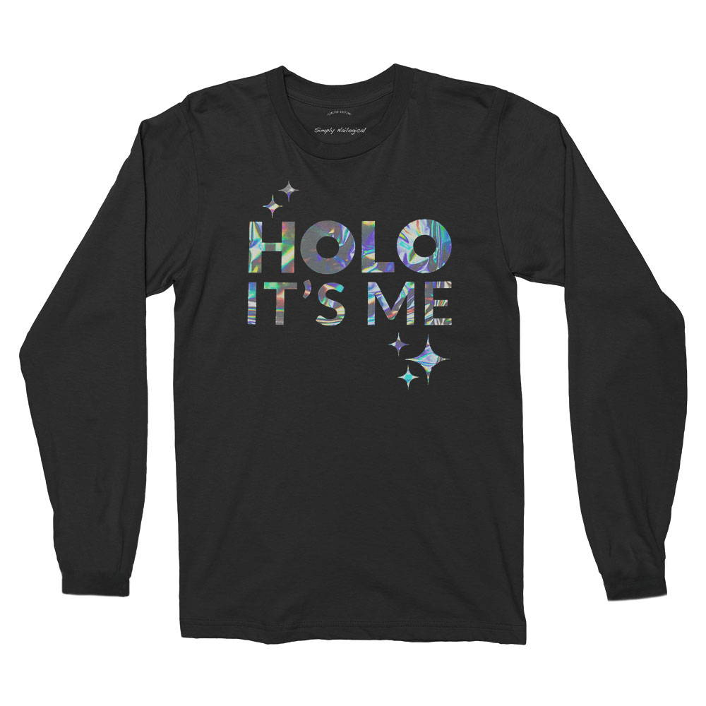 Foil printed longsleeve with neck label print