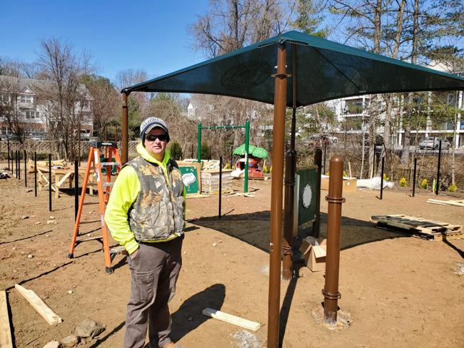 Playground equipment getting installed