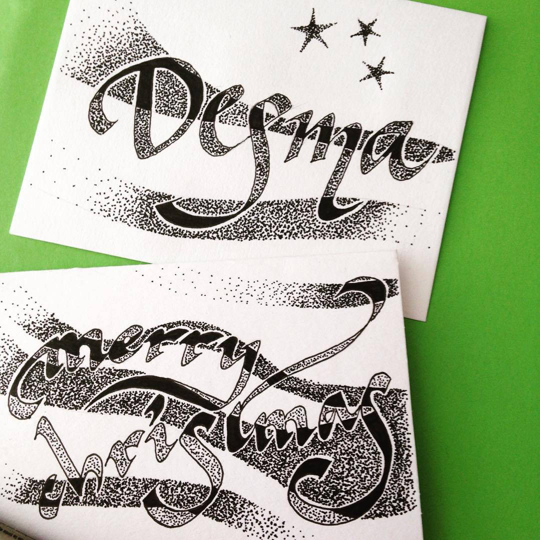 Tania Hearn lettering workshops Brisbane Gold Coast