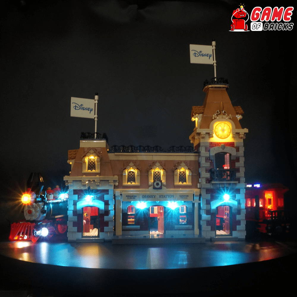 lego led light for train station 71044