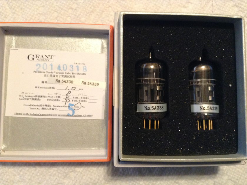 PSvane  Treasure II 12AX7 Matched Pair Tubes  Two Matched Pairs (4 tubes). Very nice!