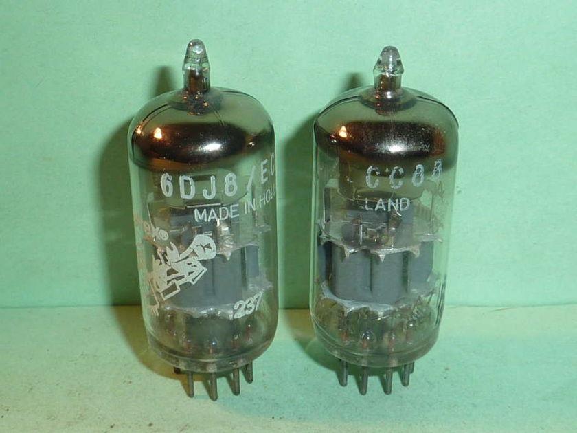 Amperex 6DJ8 ECC88 Bugle Boy Tubes, Matched Pair, NOS Tested, NOS, NIB