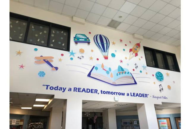 school wall decal for library