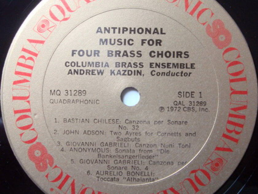 ★Audiophile★ Columbia Quadraphonic / KAZDIN, - Antiphonal Music for Four Brass Choirs, NM!